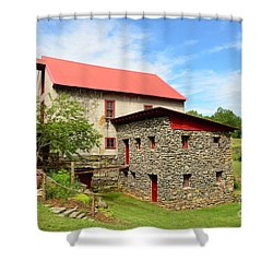 Guilford Grist Mill - 2 Shower Curtain by Bob Sample