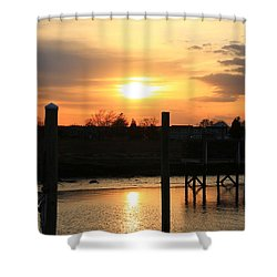 Guilford Low Tide Shower Curtain by Catie Canetti