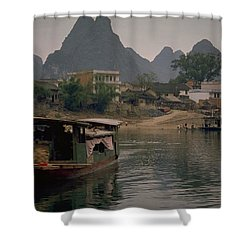Guilin Limestone Peaks Shower Curtain