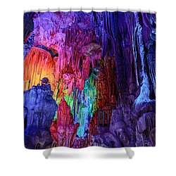 Guilin  Reed Flute Cave, China Shower Curtain