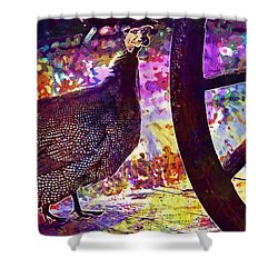 Guinea Fowl Guinea Fowl Chicken  Shower Curtain