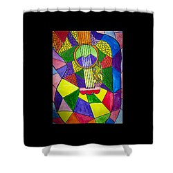 Guitar Abstract Shower Curtain