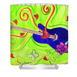Guitar In The Sky Shower Curtain