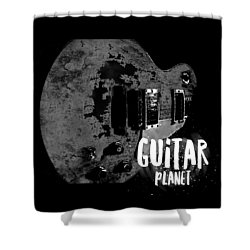 Shower Curtain featuring the photograph Guitar Planet  by Guitar Wacky