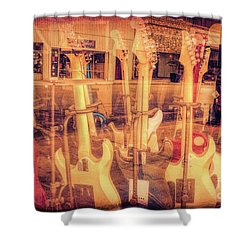 Guitar Reflections Shower Curtain