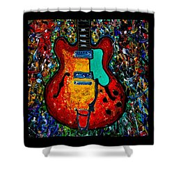 Guitar Scene Shower Curtain