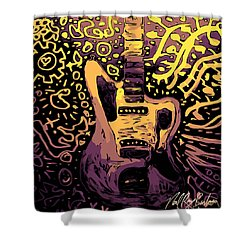 Guitar Slinger Shower Curtain