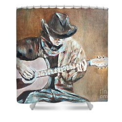 Guitar Solo Shower Curtain