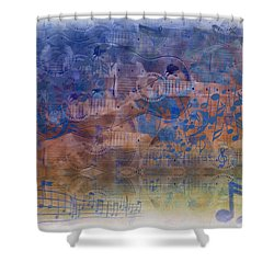 Guitargasm Shower Curtain by Bill Cannon