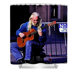 Guitarman Shower Curtain