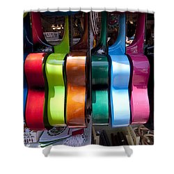 Guitars Shower Curtain by Mike Herdering