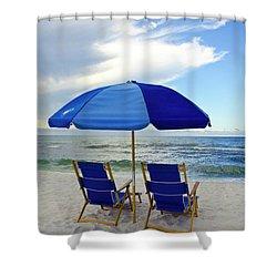 Gulf Coast Beach Oasis Shower Curtain