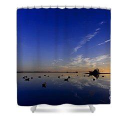 Gulf Coast Duck Hunting Shower Curtain