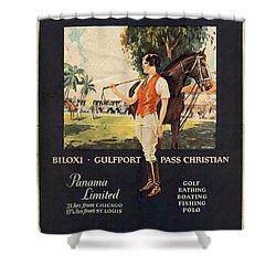 Gulf Coast - Illinois Central - Vintage Poster Vintagelized Shower Curtain
