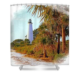 Shower Curtain featuring the photograph Gulf Coast Lighthouse 1 by Marty Koch