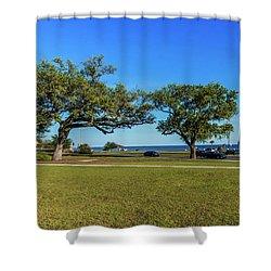Gulf Coast Lighthouse Seascape Biloxi Ms 3663a Shower Curtain