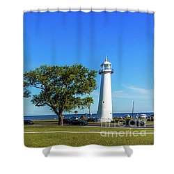 Gulf Coast Lighthouse Seascape Biloxi Ms 3663b Shower Curtain