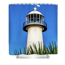 Gulf Coast Lighthouse Seascape Biloxi Ms 3819a Shower Curtain