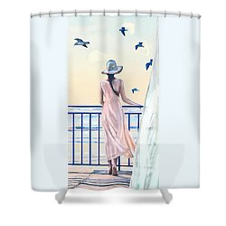 Gulf Coast Morning Shower Curtain by Jane Schnetlage