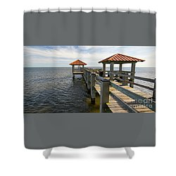 Gulf Coast Pier Shower Curtain