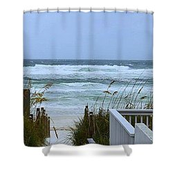 Shower Curtain featuring the photograph Gulf Coast Waves by Debra Forand
