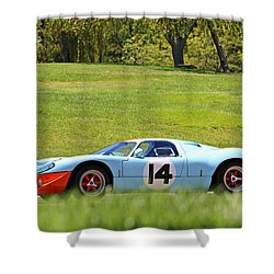 Gulf Mirage Ford Gt40 Shower Curtain