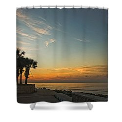 Gulf Of Mexico Sunrise Shower Curtain