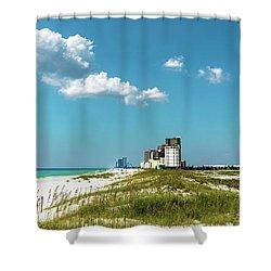 Gulf Shores Al Beach Seascape 1610a Shower Curtain