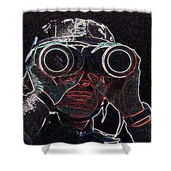 Gulf War Shower Curtain by Charles Shoup