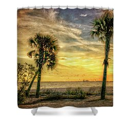 Gulfport Sunset Shower Curtain