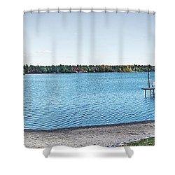 Gull Lake Panorama Shower Curtain