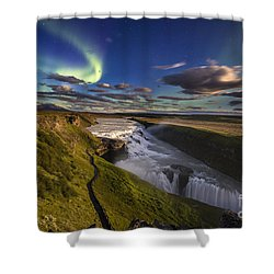 Gullfoss Iceland Shower Curtain