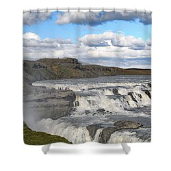 Gullfoss Waterfall Iceland Vi Shower Curtain