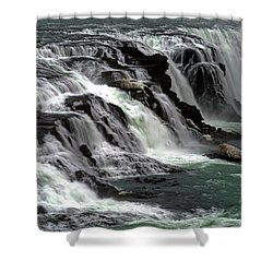 Gullfoss Waterfalls, Iceland Shower Curtain