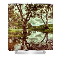 Shower Curtain featuring the photograph Gum Creek V2 by Douglas Barnard
