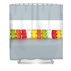 Gummy Bears In A Row Shower Curtain