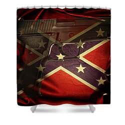 Gun And Flag Shower Curtain