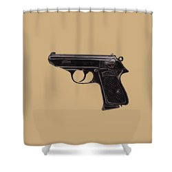 Gun - Pistol - Walther Ppk Shower Curtain