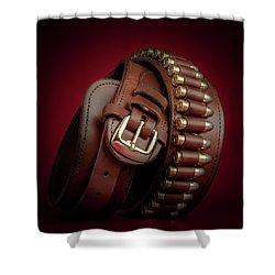Gunbelt Bandolier Shower Curtain by Tom Mc Nemar
