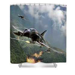 Gunfighters Shower Curtain by Peter Chilelli
