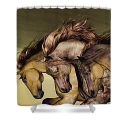 Shower Curtain featuring the painting Gunmetal by Valerie Anne Kelly