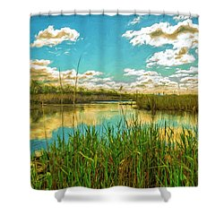 Gunnel Oval By Paint Shower Curtain