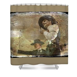 Gunslinger II Doc Holliday Shower Curtain by Toni Hopper