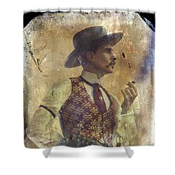 Gunslinger IIi Doc Holliday In Fine Attire Shower Curtain by Toni Hopper