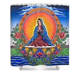 Guru Guadalupe Shower Curtain