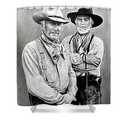 Gus And Woodrow Shower Curtain
