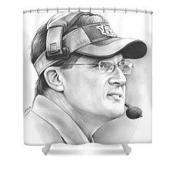 Gus Malzahn Shower Curtain