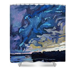 Gust Front Shower Curtain