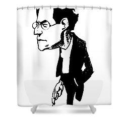 Gustav Mahler (1860-1911) Shower Curtain by Granger