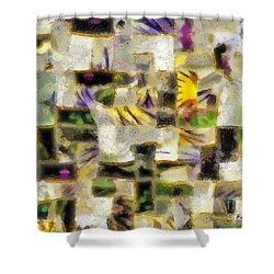 Gustav's Quilt Shower Curtain by RC DeWinter